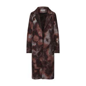 VILA Prechodný kabát 'COVA'  hnedá / bronzová / sivá