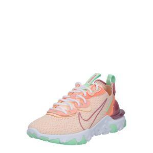 Nike Sportswear Nízke tenisky 'React Vision'  broskyňová / ružová