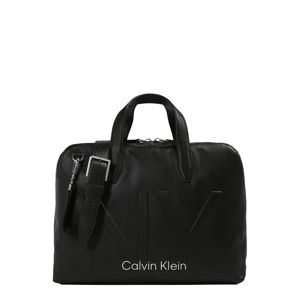 Calvin Klein Tasche 'NY SHAPED LAPTOP BAG'  čierna