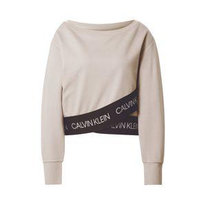 Calvin Klein Performance Športový sveter  béžová / čierna / biela