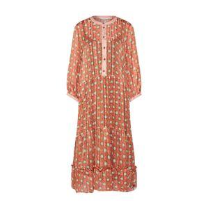 NÜMPH Košeľové šaty 'NUAMABEL'  krémová / červená