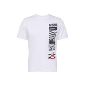 UNITED COLORS OF BENETTON Tričko  biela / červená / čierna