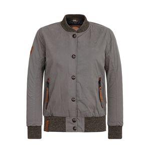 naketano Prechodná bunda  hnedá / sivá
