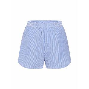 IVYREVEL Nohavice  modrá / biela