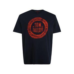 TOM TAILOR Tričko  červená / námornícka modrá