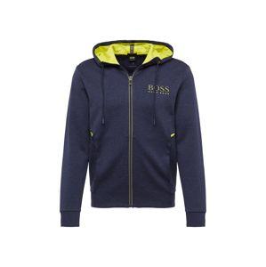 BOSS Tepláková bunda 'Saggy'  námornícka modrá / žltá