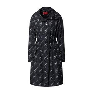 HUGO Prechodný kabát 'Felin'  biela / čierna