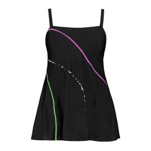 Ulla Popken Plavkové šaty  čierna / zmiešané farby