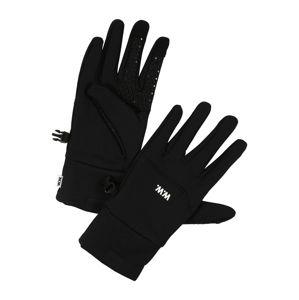 WOOD WOOD Prstové rukavice 'Holger Gloves'  čierna / biela