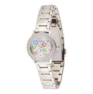 GUESS Analógové hodinky  strieborná / modrá / červená / zelená / biela