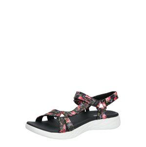 SKECHERS Trekingové sandále  čierna / biela / zmiešané farby