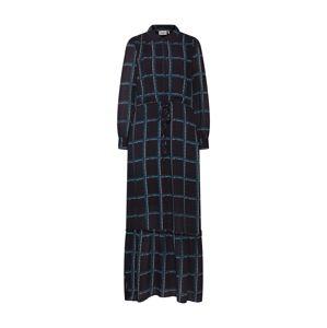 Another Label Košeľové šaty 'Maley'  modrá / tmavomodrá