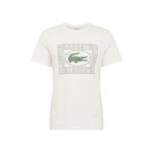 LACOSTE Tričko  biela / zelená