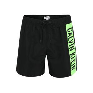 Calvin Klein Plavecké šortky  neónovo zelená / čierna