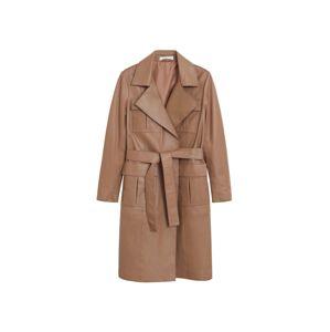MANGO Prechodný kabát  žltohnedá