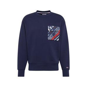 Tommy Jeans Mikina  námornícka modrá / zmiešané farby