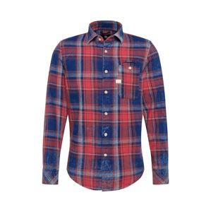 G-Star RAW Košeľa 'Bristum'  modrá / červená / biela