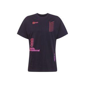 Nike SB Funkčné tričko  ružová / čierna melírovaná