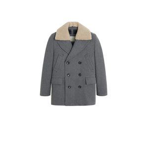 MANGO MAN Prechodný kabát 'Milano'  sivá melírovaná