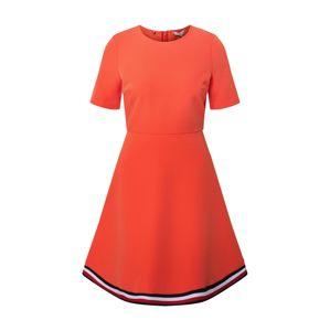 TOMMY HILFIGER Letné šaty 'Angela'  námornícka modrá / biela / červené / tmavooranžová