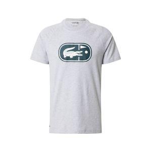 Lacoste Sport Tričko  biela / sivá / zelená
