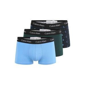 Calvin Klein Boxerky  tmavozelená / svetlomodrá / tmavomodrá