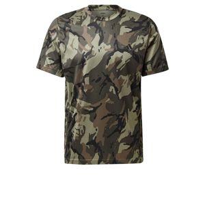 ADIDAS PERFORMANCE Funkčné tričko  svetlohnedá / čierna / olivová / kaki