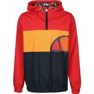 ELLESSE Prechodná bunda 'Agnolo'  čierna / svetločervená / oranžová