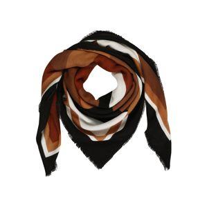 ONLY Látkové rúško 'Oranje'  čierna / šedobiela / karamelová / svetlohnedá / hrdzavohnedá
