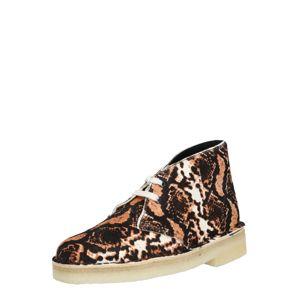 Clarks Originals Šnurovacie topánky 'Desert'  hnedá / koňaková / biela