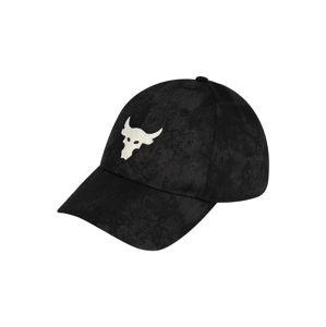 UNDER ARMOUR Športová šiltovka 'UA Project Rock'  čierna / biela