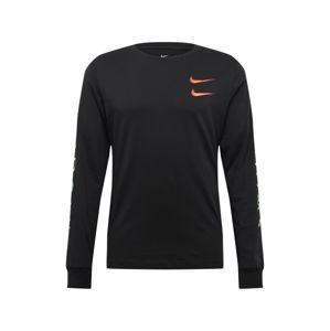 Nike Sportswear Tričko  oranžová / čierna