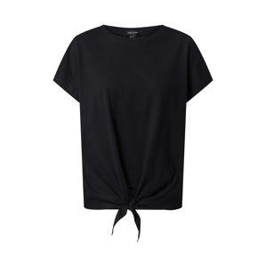NEW LOOK Tričko 'Tie Front'  čierna