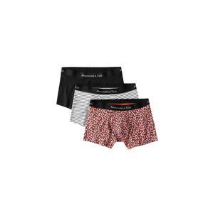 Abercrombie & Fitch Boxerky  biela / čierna / červené
