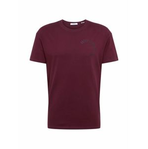 JACK & JONES Shirt  'JPRNIGHT SS TEE CREW NECK TC419'  vínovo červená