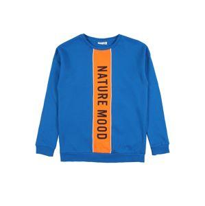 NAME IT Mikina  oranžová / kráľovská modrá