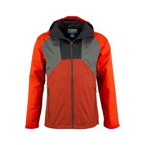 COLUMBIA Športová bunda  sivá / červená / antracitová