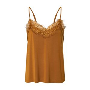 SELECTED FEMME Top 'SLFELLA LACE SINGLET'  hnedá