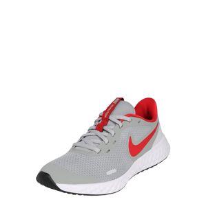 NIKE Športová obuv 'Revolution 5'  červená / svetlosivá / biela