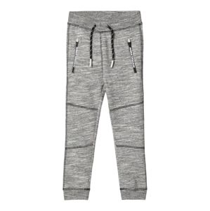 NAME IT Nohavice  sivá melírovaná / svetlosivá / biela