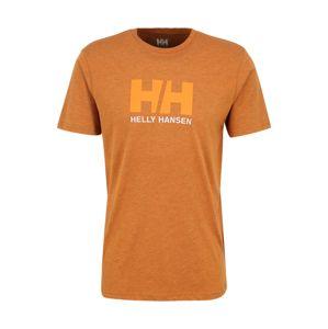 HELLY HANSEN Funkčné tričko 'HH LOGO'  oranžová / svetlohnedá