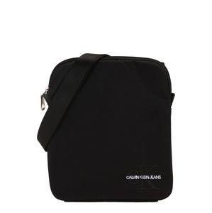Calvin Klein Jeans Taška cez rameno 'MONOGRAM NYLON MICRO FP'  čierna