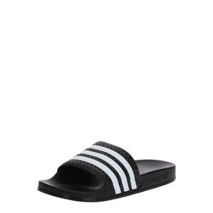 ADIDAS ORIGINALS Plážové / kúpacie topánky 'ADILETTE J'  čierna / biela