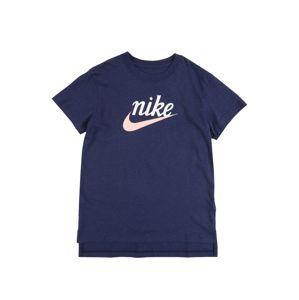 Nike Sportswear Tričko  modrá / biela