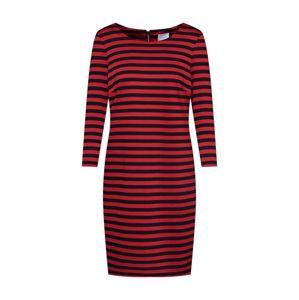 VILA Šaty 'VITinny'  červená / čierna