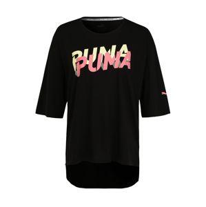 PUMA Shirt  limetová / neónovo ružová / čierna