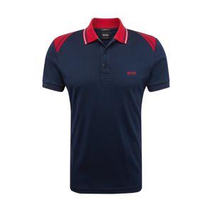 BOSS Tričko  námornícka modrá / červené