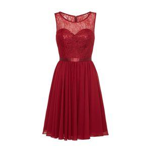 mascara Kokteilové šaty  tmavo červené