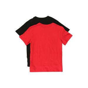 Calvin Klein Underwear Schlafshirt  červené / čierna