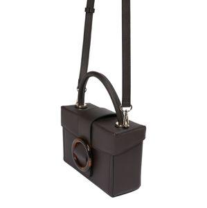 NA-KD Tasche 'buckle box'  tmavohnedá